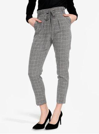 Pantaloni cropped cu talie inalta si cordon Miss Selfridge