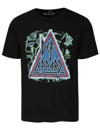 Čierne tričko s potlačou ONLY & SONS Def Leppard