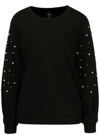 Bluza neagra cu margele ONLY Asti