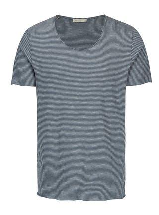 Tricou albastru in dungi - Selected Homme Newmerce