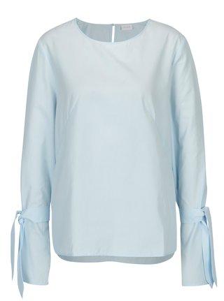 Bluza bleu cu maneci clopot si funda VILA Jenner