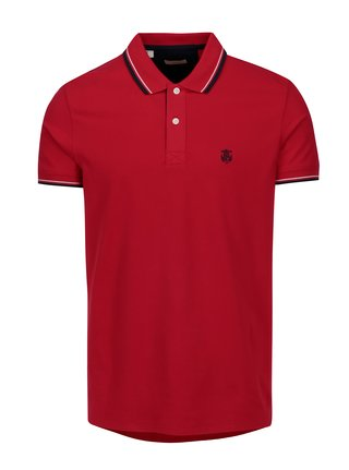 Tricou polo rosu cu broderie - Selected Homme Newseason