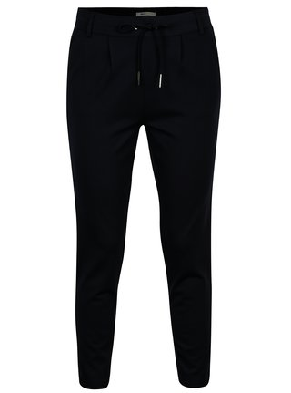 Tmavomodré nohavice s pruhmi v striebornej farbe ONLY Poptrash