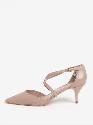 Sandale roz deschis din piele Dune London Courtnee