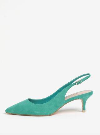 Pantofi cu toc verzi din piele cu calcai decupat Dune London Casandra