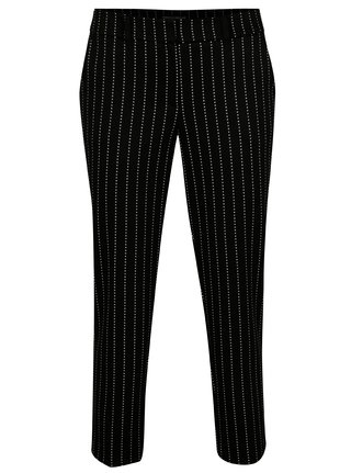 Čierne skrátené vzorované nohavice Dorothy Perkins