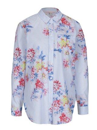 Modrá dámská košile s pruhovaným a květovaným vzorem Tom Joule 597e978d2f