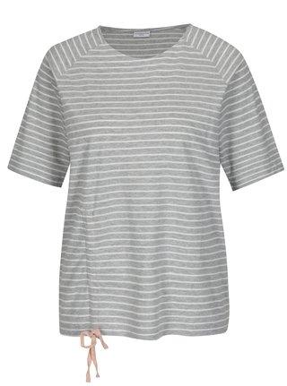 Svetlosivé pruhované tričko Jacqueline de Yong Buzz