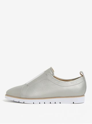 Pantofi slip-on argintii Geox Kookean