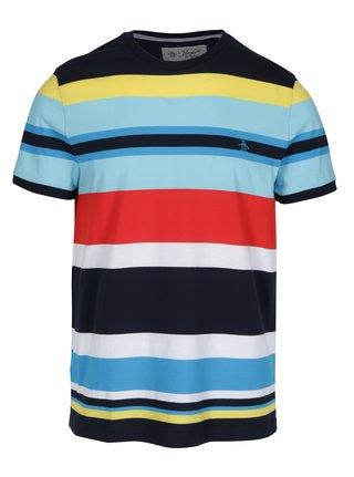 Modré pruhované tričko Original Penguin Engineered