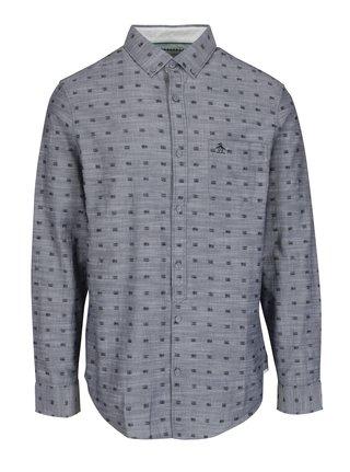 Sivá vzorovaná košeľa s náprsným vreckom Original Penguin Cassette