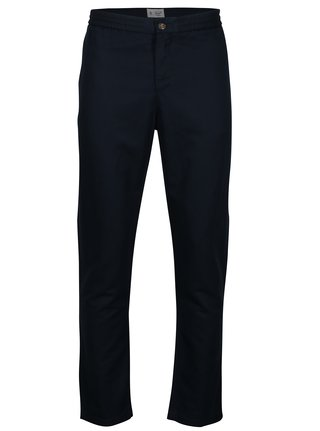 Tmavomodré ľanové nohavice Original Penguin Relaxed Linen