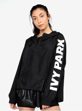 Černý šusťákový anorak s kapucí Ivy Park
