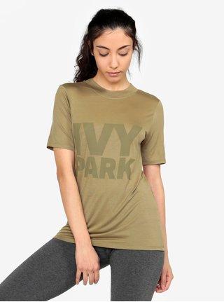 Khaki tričko s potiskem Ivy Park