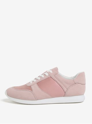 Pantofi sport roz cu piele intoarsa pentru femei Vagabond Kasai
