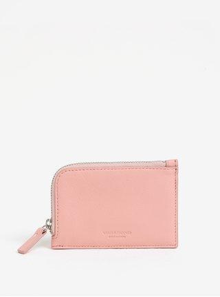 Ružová dámska kožená peňaženka Vagabond Lisabon