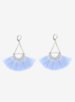 Cercei argintii cu ciucuri bleu - Pieces Melia
