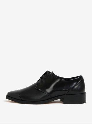 Pantofi negri din piele cu detalii glossy pentru femei - Royal RepubliQ
