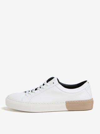 Béžovo-biele dámske kožené tenisky Royal RepubliQ
