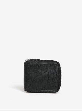 Černá pánská kožená peněženka na zip GANT