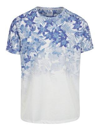 Krémové pánske tričko s kvetinami Burton Menswear London