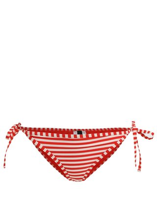 Slip rosu&crem pentru costum de baie - Y.A.S Samui