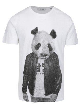 Tricou cu print urs panda ONLY & SONS Simon