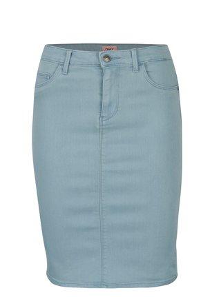 Svetlomodrá rifľová skinny fit sukňa ONLY Rain