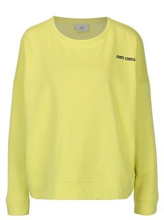 Bluza galben neon cu broderie ONLY Janni