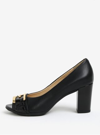 Pantofi negri peep toe cu toc inalt - Geox Annya