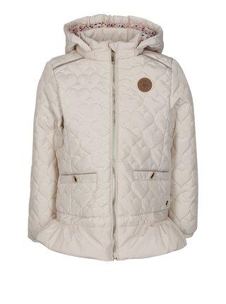 Béžová dievčenská prešívaná nepremokavá bunda s kapucňou 5.10.15.