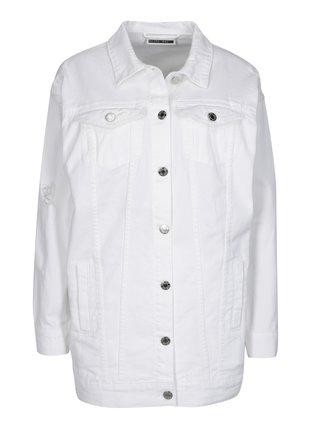Jacheta alba lunga oversized din denim Noisy May Angie