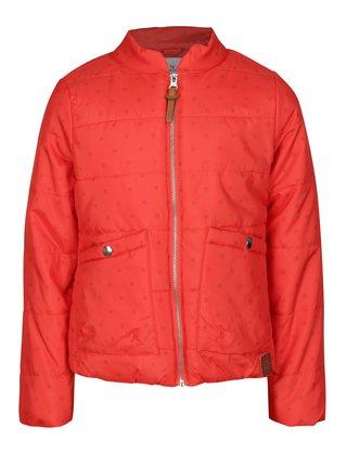 Červená dievčenská prešívaná vodovzdorná bunda s vreckami 5.10.15.