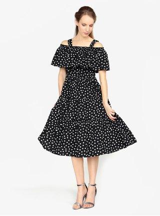 78e72fdf005 Černé vzorované šaty s odhalenými rameny VERO MODA Loka