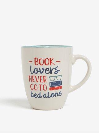 Krémový hrnček s potlačou CGB Book lovers