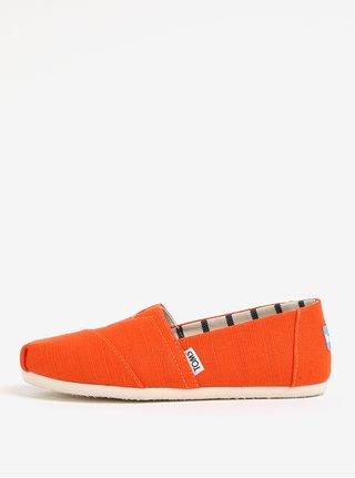 Oranžové dámské espadrilky TOMS