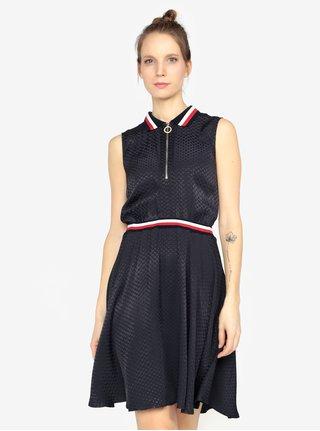 Tmavomodré šaty bez rukávov Tommy Hilfiger caef0fda0fe