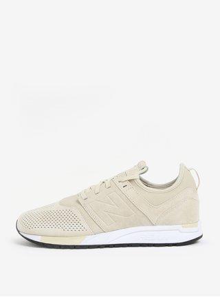 Pantofi sport crem din piele intoarsa pentru barbati New Balance MRL247