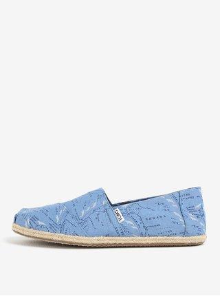 Modré vzorované pánske espadrilky TOMS