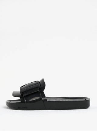 Černé pantofle s přezkou Melissa Beach Slide
