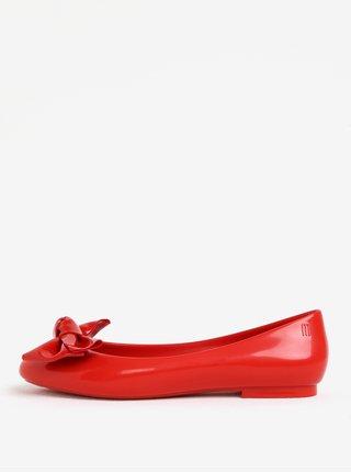 Červené lesklé baleríny s mašľou Melissa Doll