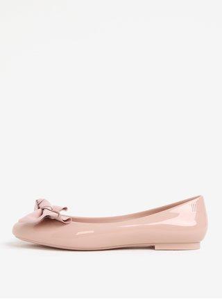 Balerini roz parfumati cu funda si aspect lucios - Melissa Doll