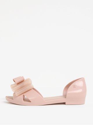 Svetloružové sandále s mašľou na špičke Melissa Seduction