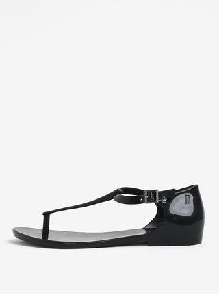 Čierne sandále s prackou Melissa Honey