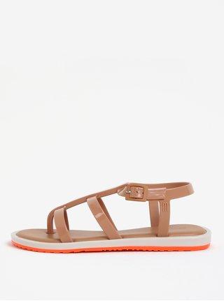 Svetlohnedé remienkové sandále Melissa Caribe Verao
