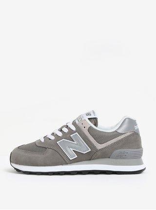 Pantofi sport gri pentru femei New Balance WL574