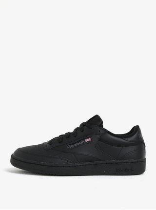 Čierne kožené tenisky Reebok Club C 85