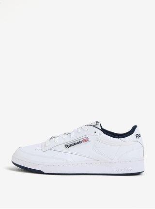 Biele kožené tenisky Reebok Club C 85