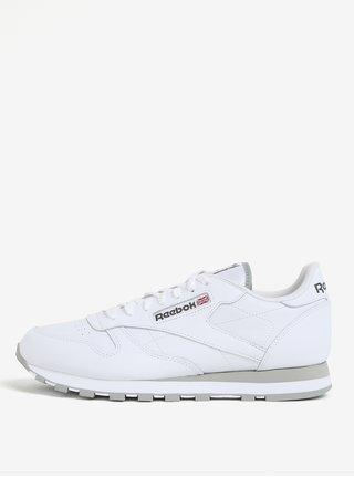 Pantofi sport albi din piele pentru barbati Reebok