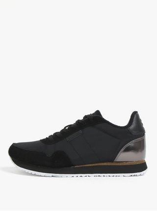 Pantofi sport negri cu detaliu metalic pentru femei  Woden Nora II